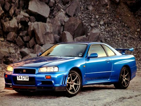 Skyline on Nissan Skyline Gt R R34 Blue Color